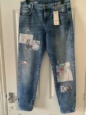 Ladies Marks & Spencer Limited Edition Blue Girlfriend Jeans Size 16L RRP £39.50