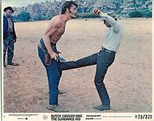 Butch Cassidy & The Sundance Kid Paul Newman kicks Ted Cassidy lobby card