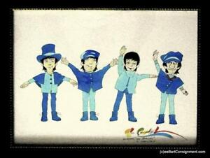 """RON CAMPBELL Signed ORIG.ART for The Beatles """"HELP"""" TV Cartoon+Film+RARE Poster"""