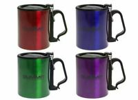 Summit Insulated Mug With Carabiner Lid Outdoor Camping - 1 Unit Green Mug