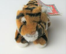 "1994 Vintage K&M International Endangered Series TIGER 5"" Plush Stuffed w/Tag"