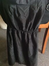 WOMANS Sunny Girl Size 12 Black Narrow Strapped Dress With Belt
