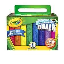 Crayola 48 Count Sidewalk Chalk (51-2048) Kids Toy Game New