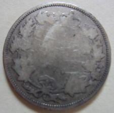 1870 Canada Silver Twenty-Five Cents Coin. KEY DATE QUARTER (UJ1)