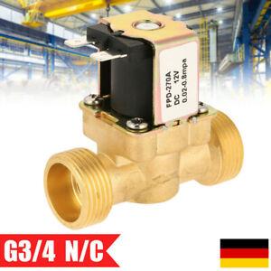 """Magnetventil Messing 3/4"""" 12V DC 8 bar NC stromlos geschlossen Wasser Ventil DHL"""