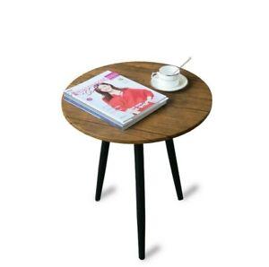 Round Coffee Table Living Room Side 3 Metal Legs Hallway Living Room Furniture