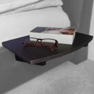 Black Clip on Hanging Bedside Shelf Table, Made of Bamboo