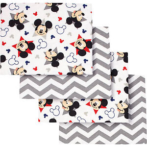 Mickey Mouse Let's Go II Flannel Receiving Blankets 4pk by Disney Baby