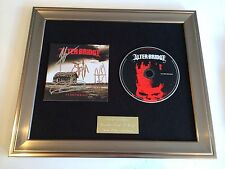 PERSONALLY SIGNED/AUTOGRAPHED ALTER BRIDGE - FORTRESS  FRAMED CD PRESENTATION.