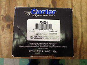 CARTER P76004 Fuel Pump & Strainer-Fuel Pump & Strainer