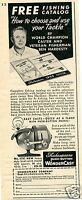 1959 Shakespeare No. 1797 Fishing Reel Ben Hardesty Print Ad