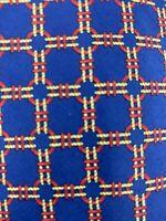Hermes Paris 668 OA Mens Silk Designer Luxury Necktie France Blue Red Tie EUC