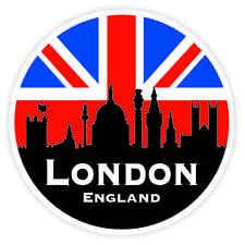 British parachoques la ventana de Sticker De Vinilo De Ciudad de Londres de Union Jack Bandera