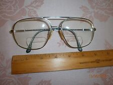 Vintage Men's Lawrence EYEWEAR EYEGLASS Frame Metal RETRO 1980s Pewter  ITALY