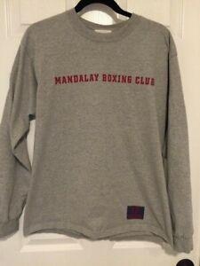 Vintage Mandalay Bay Las Vegas Boxing Club Shirt Large LONG sleeved F&B Graphics