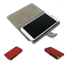NEW WALLET CASE COVER STAND SKIN POUCH PU LEATHER RED FOR GALAXY NOTE II 2