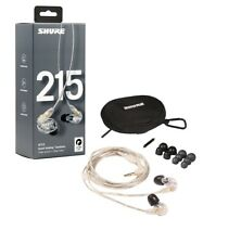 "Shure SE215-CL Sound Isolating In-Ear Monitors w/ Standard 64"" Cable - Clear"
