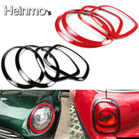 Black Head Light & Tail Lamp Trim Surrounds For Mini Cooper F55 F56 Hatchback