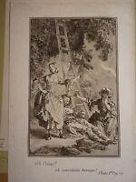 Jean-Baptiste LEPRINCE (1734-1781) RARE Gravure XVIII LAVIS ROUE VERTUEUX 1770 a