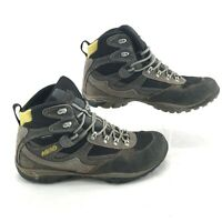Asolo Trail Hiking Shoes Mid Top Lace Up Waterproof Vibram Leather Grey Men 11.5