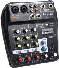 More details for uk synco mc4 audio mixer 4-channel mono stereo for studio music stage tuning ktv