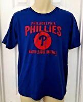 PHILADELPHIA PHILLIES Youth T Shirt Size XL 18 Blue Tee Red Baseball Logo New