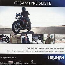 LISTINO prezzi Triumph Motorcycles 2013 D Thunderbird SPRINT GT DAYTONA 675 R TIGER