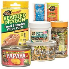 ZOO MED BEARDED DRAGON FOOD SAMPLE VALUE PACK VARIETY TROPICAL FRUIT WORMS