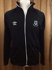 Umbro Men's Soccer Jacket Black Long Sleeve Medium