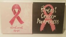 Set of Two Breast Cancer Awareness Wall Decorations / Decor