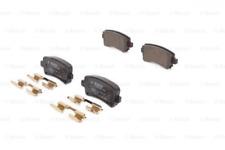 Bremsbelagsatz, Scheibenbremse für Bremsanlage Hinterachse BOSCH 0 986 494 668