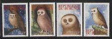 Burundi 2009 Native Owls set Sc# 802-05 NH