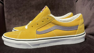 """Vans SK8-Low Skate Low Honey Gold Purple Size 10 New DS VN0A4UUK24K """"Lakers"""""""
