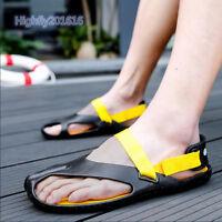 Herrenschuhe Sandalen Pantolette Strandschuhe Klettverschluss Mischfarbe Gr38-44