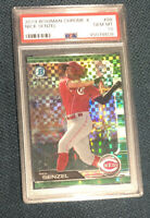 2019 Bowman Chrome Green XFractor Nick Senzel Reds RC Rookie #/31 PSA 10