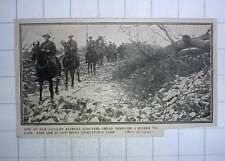 1917 Cavalry Patrol Scouting Through Ruined Village