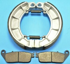Front & Rear Brake Shoes and Pads HONDA Shadow Ace 750 Deluxe VT750CD (2002-03)