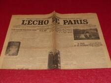 PRESS WW2 AVANT GUERRE THE ECHO DE PARIS #19888 31 MARS 1934 Morocco Stavisky