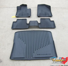 2014 - 2020 Jeep Cherokee All Weather Black Slush Mats and Cargo Tray Mopar OEM