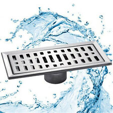 Stainless Steel Long Drainer Invisible Bathroom Floor Drain Waste Grate Shower