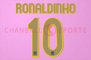 Ronaldinho #19 2006-2007 Barcelona CL Homekit Nameset Printing