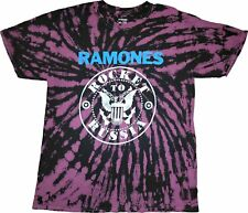 Men's Ramones Rocket To Russia Tie Dye Retro Vintage Rock Band T-Shirt Tee New