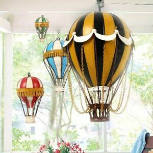 Modern Wrought Iron Hot Air Balloon Wall Hanging Decoration Living Room Ornament