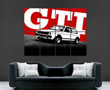 VW GOLF GTI CAR POSTER CLASSIC VOLKSWAGON  GIANT ART PRINT PICTURE LARGE