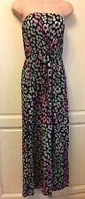 Pretty Ladies NEXT Summer Maxi Bandeau Animal Print Dress  Size 10 Exc Cond