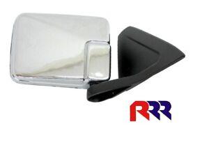 FOR MITSUBISHI TRITON MK UTE S1 96-00 DOOR MIRROR MANUAL CHROME -DRIVER SIDE