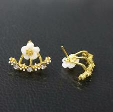 New Women Flower Fashion Double Sided Stud Earrings Available in 3 colours