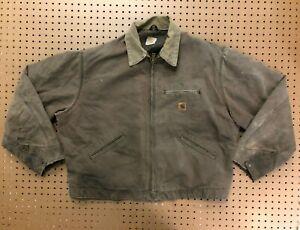 MENS XL - Vtg Carhartt Sandstone Blanket Quilted Lined Detroit Jacket