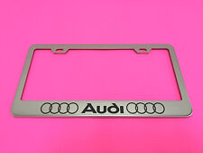 Audi LL - STAINLESS STEEL Chrome Metal License Plate Frame w/Screw caps 14-17