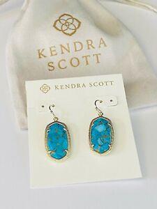 Kendra Scott  Earrings Gold/turquoise Tone